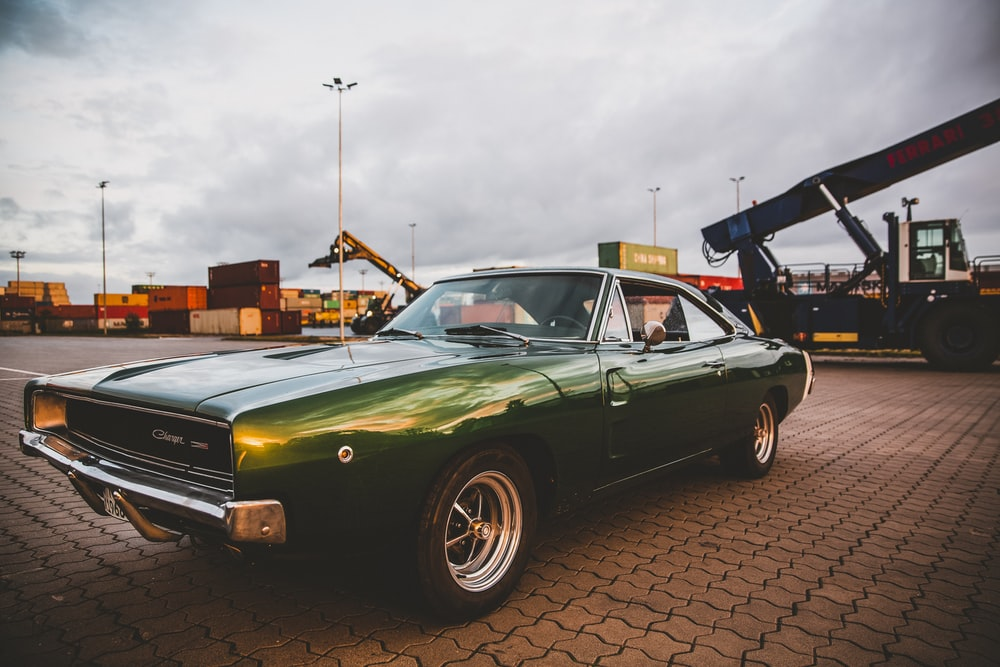 vintage green coupe