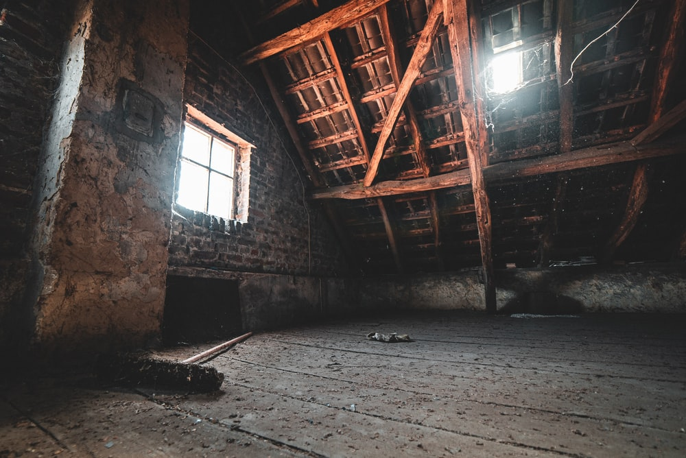empty attic during day