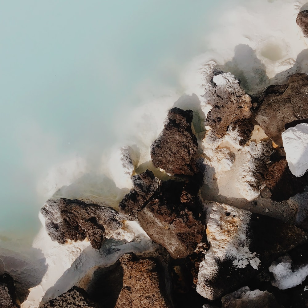 rock formation near the ocean