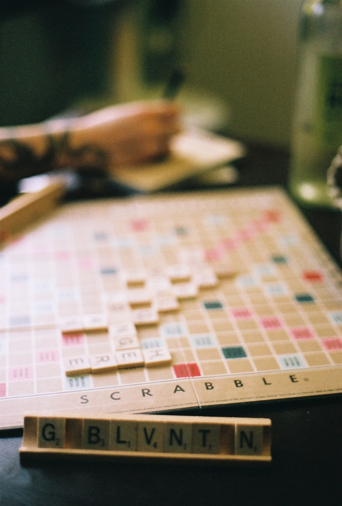 scrabble on the table