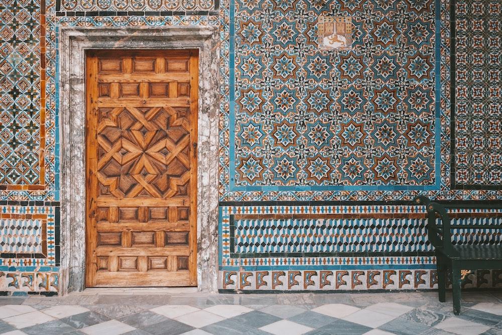 closed brown door