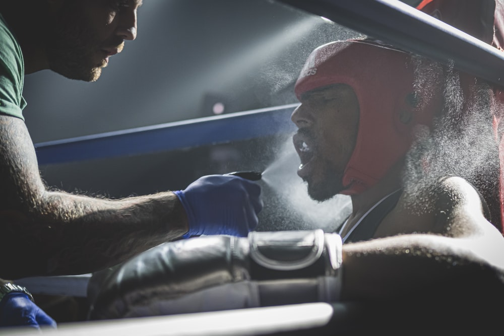 boxer on ring