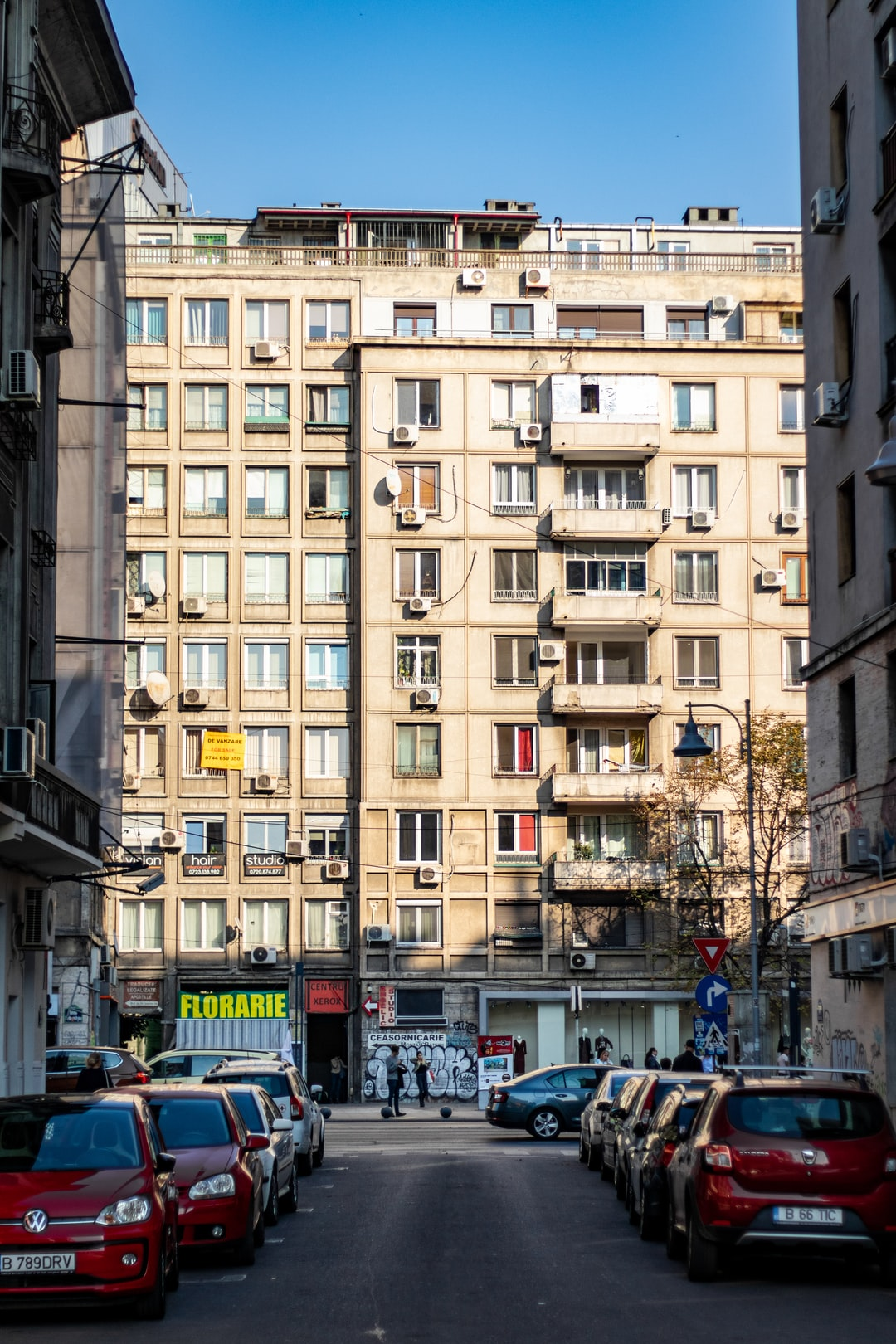 Streets of Bucharest, near Romana Square