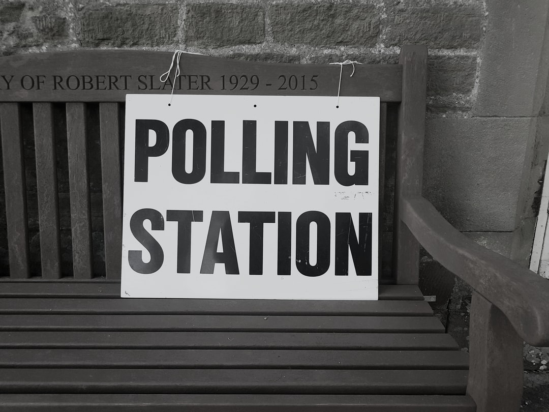 Polling Station sign in the UK