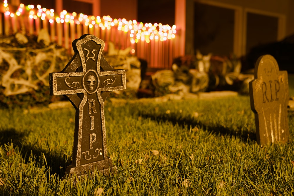 grey concrete cross plate at night
