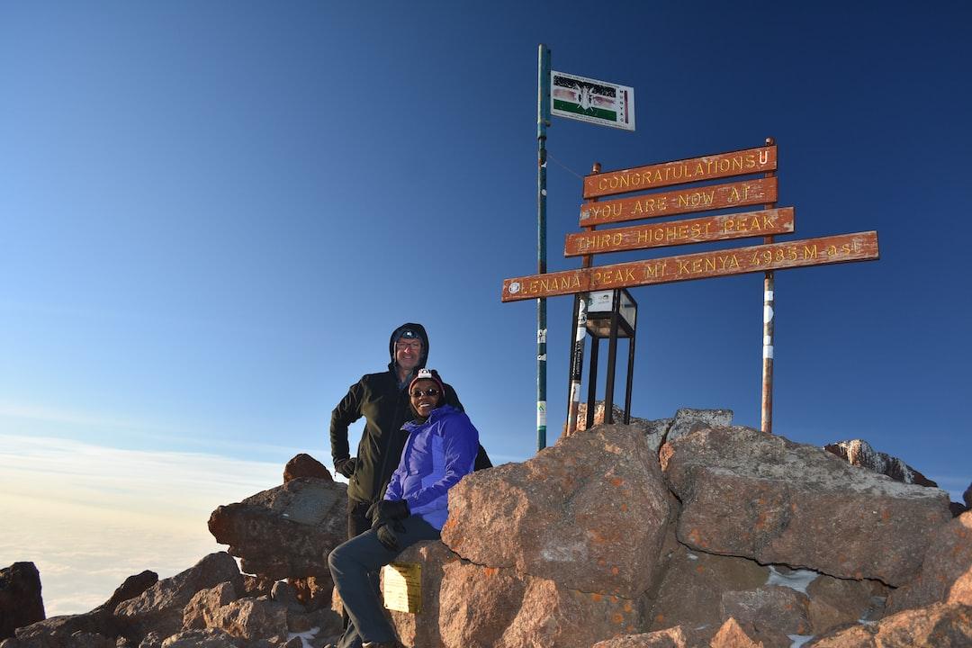Summit of Point Lenana, Mount Kenya, Kenya