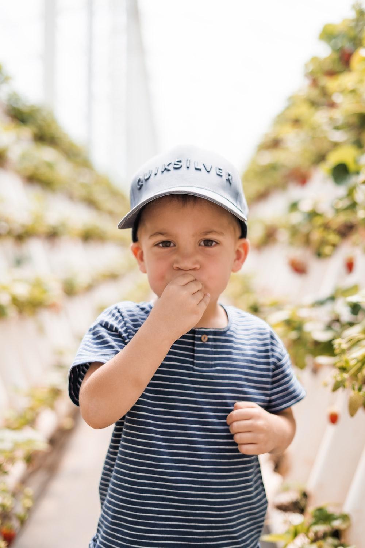 boy in green house