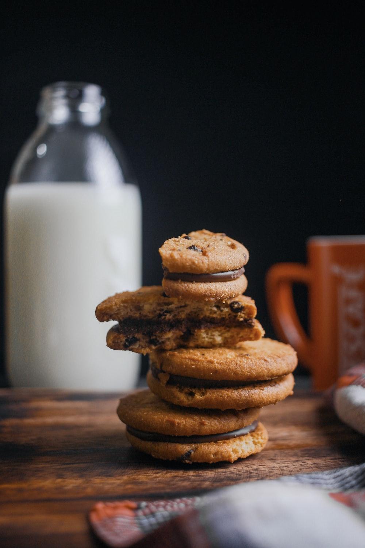 cookies on brown surface