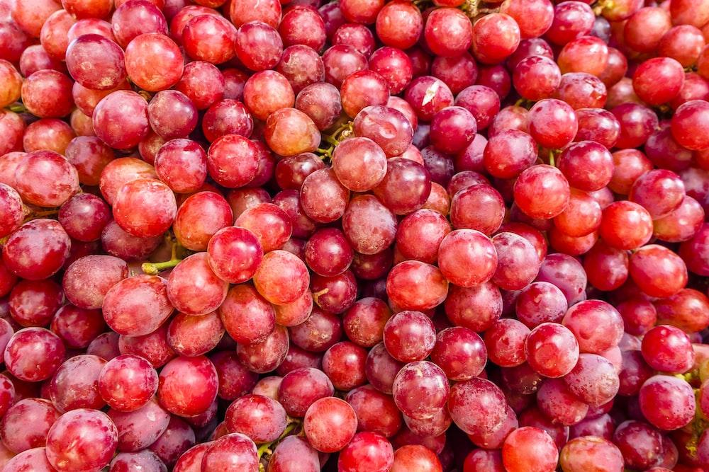 red grape fruits