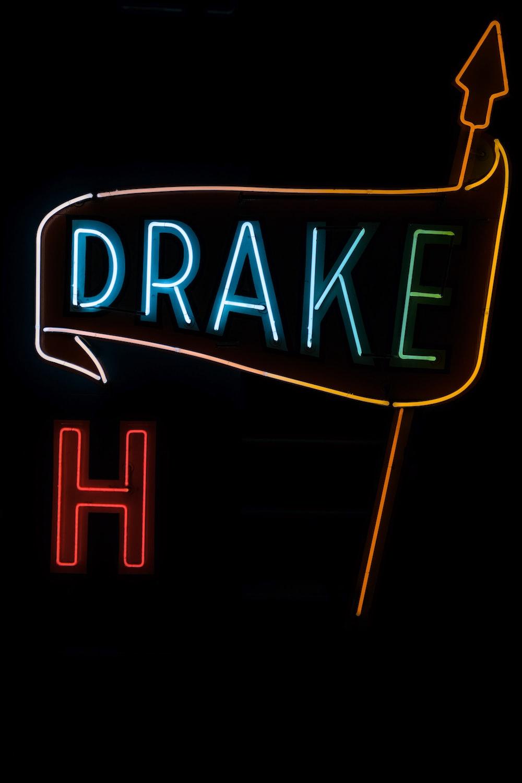Drake LED signage