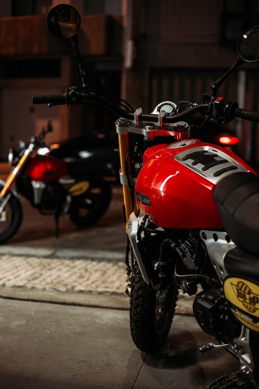 red standard motorcycle