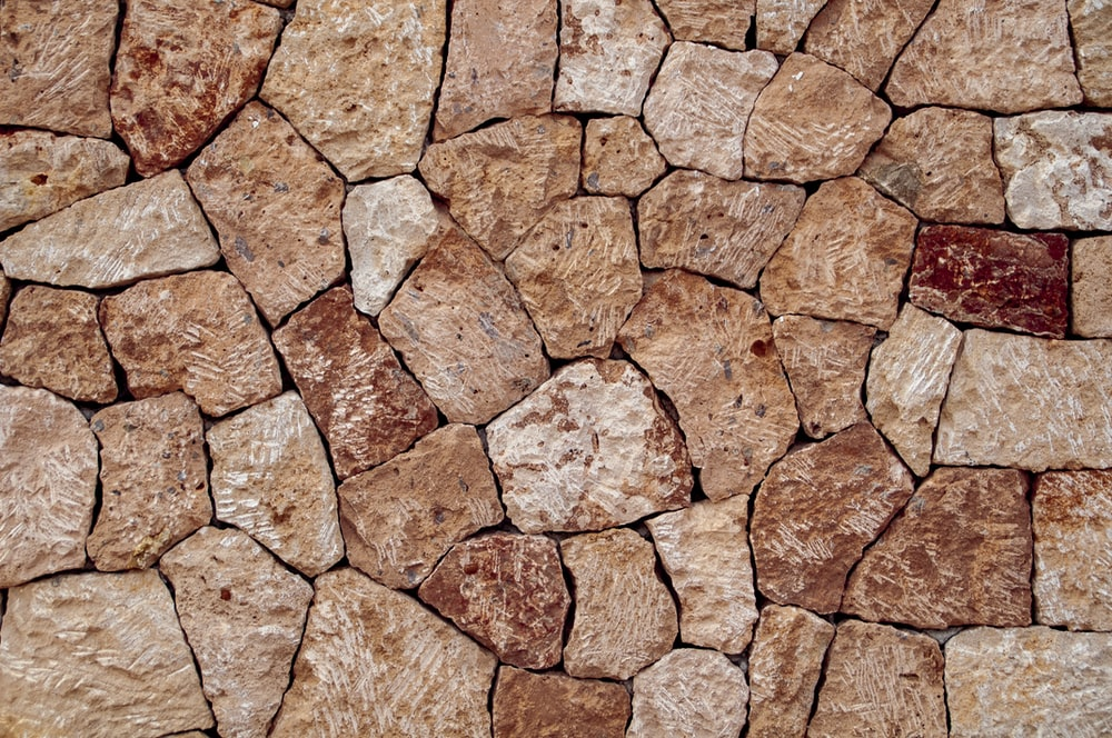 brown stone surface
