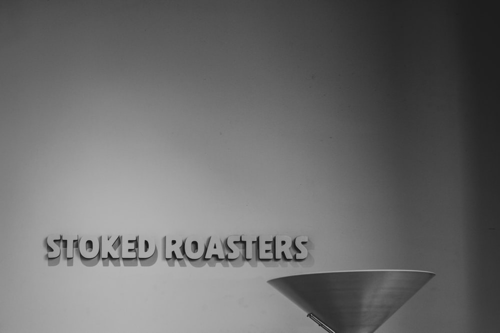 Stoked Roasters signage on wall