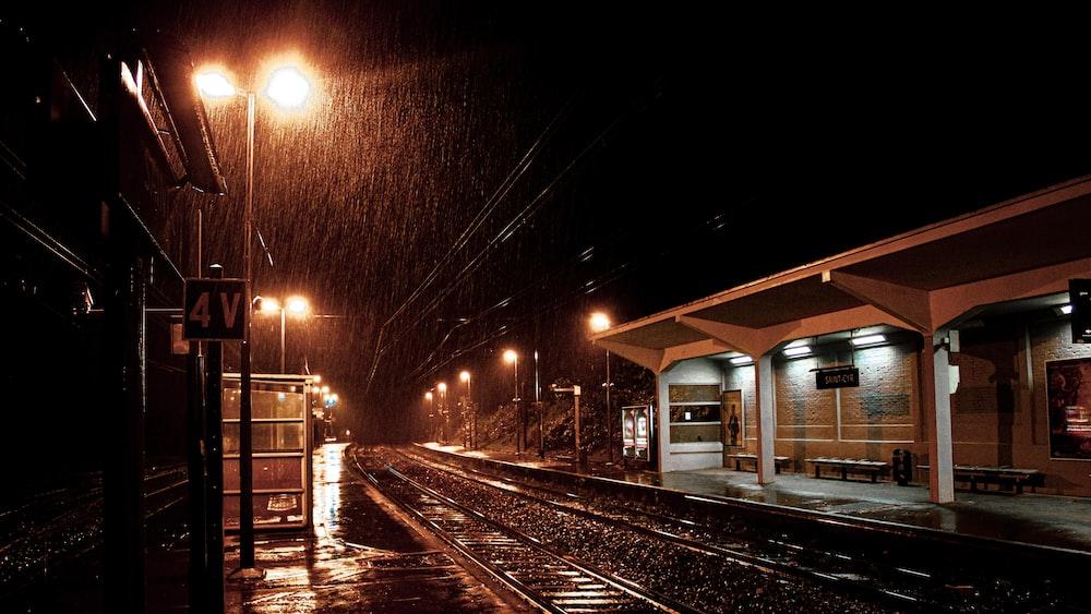 black and brown train set