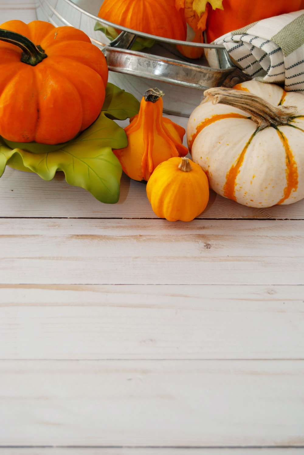 orange pumpkin and orange pumpkin