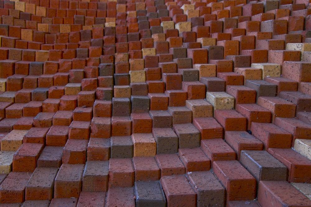 brown and gray concrete bricks