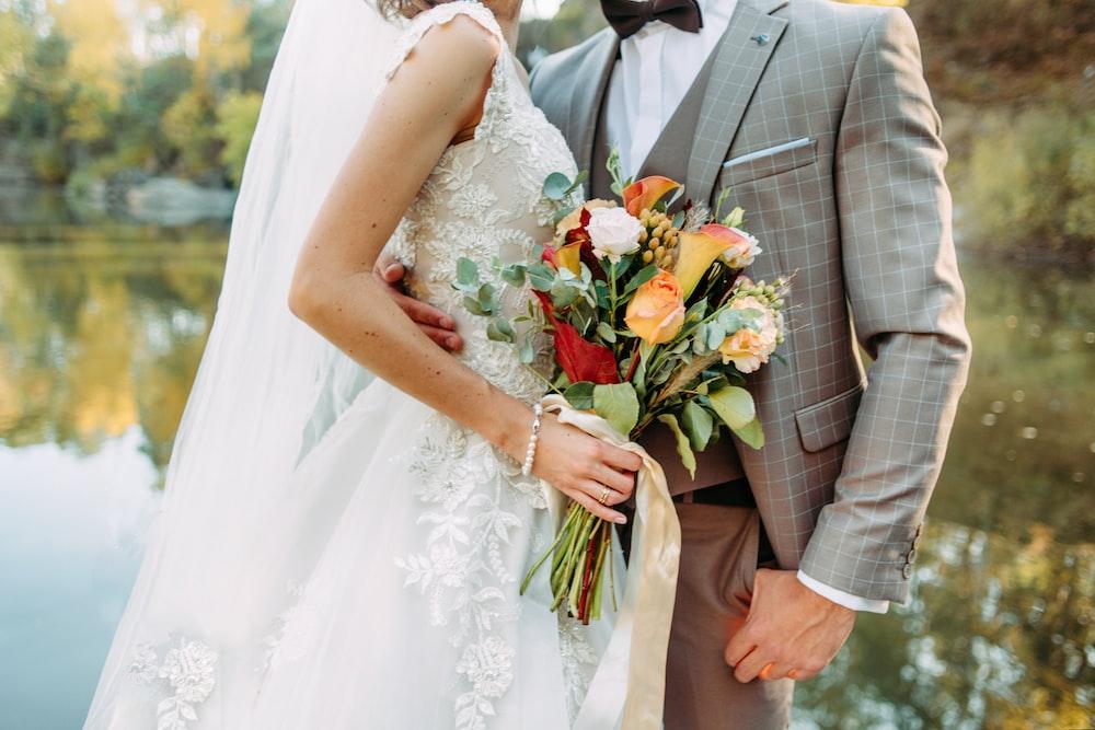 wedded couple photo