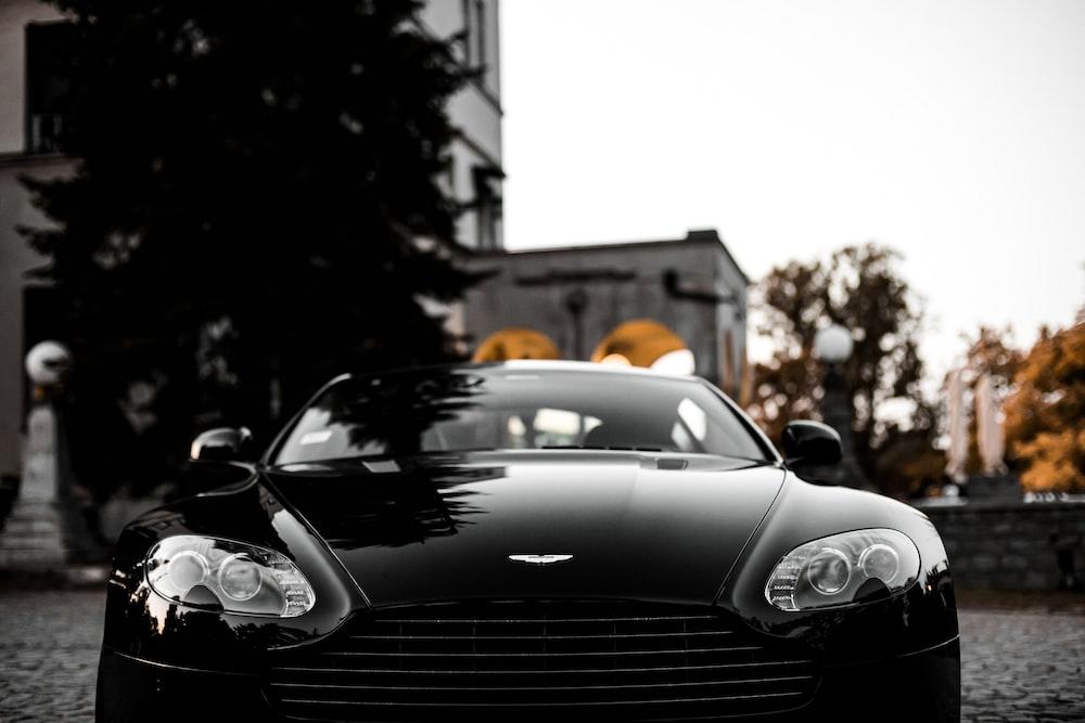 black Aston Martin car