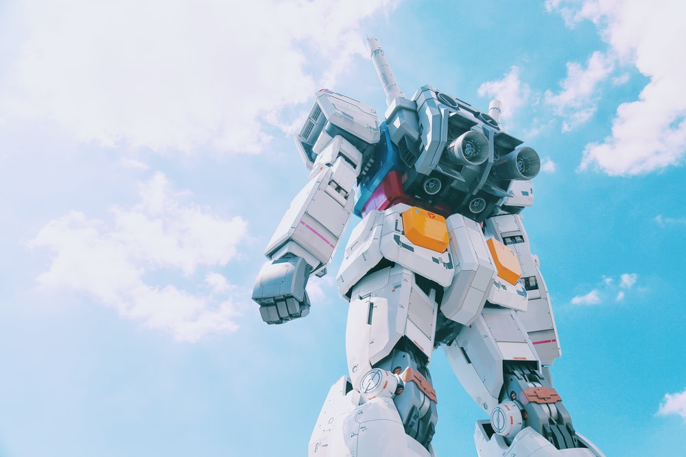 white and gray robot during daytime