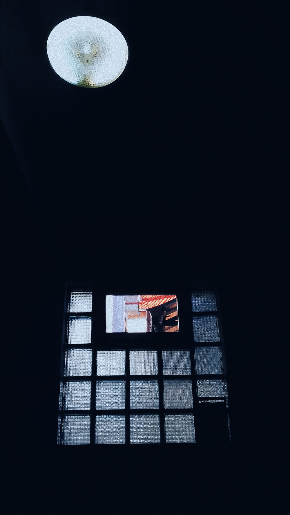 black framed glass window