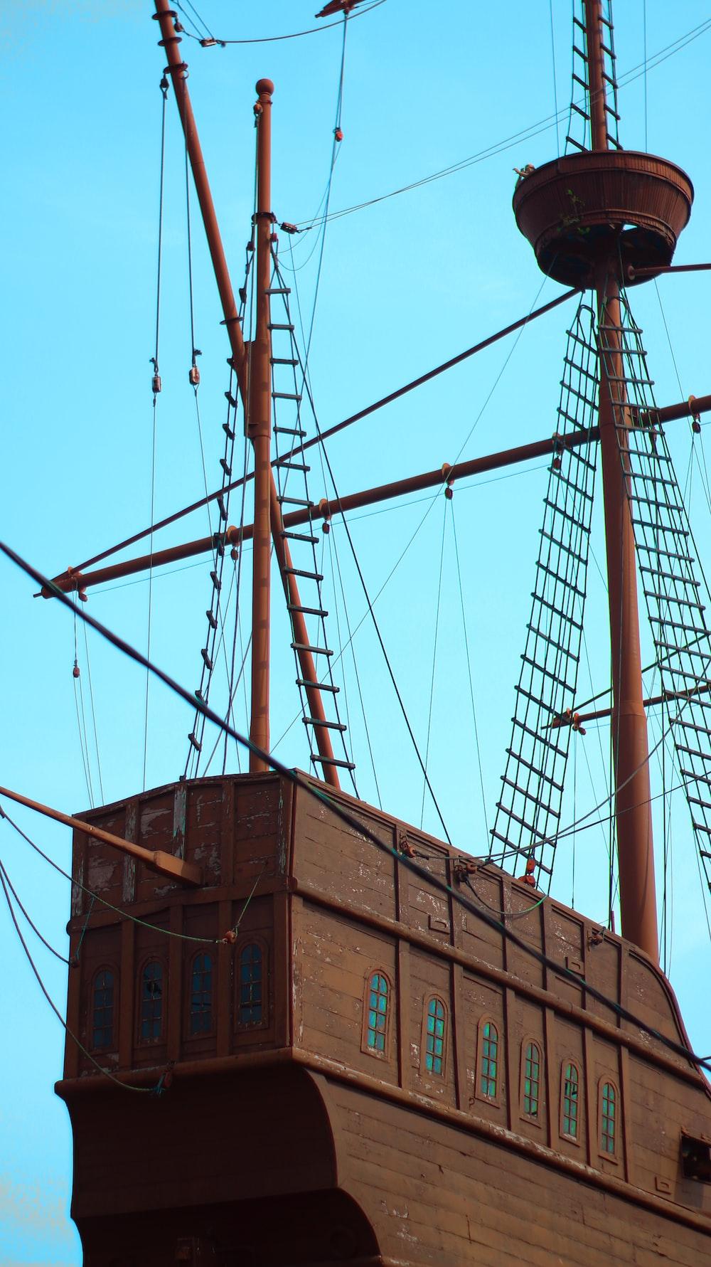 brown ship