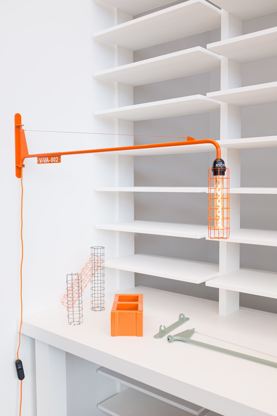 VITRA Luminaire Potence by Jean Prouvé, Redesigned by Virgil Abloh