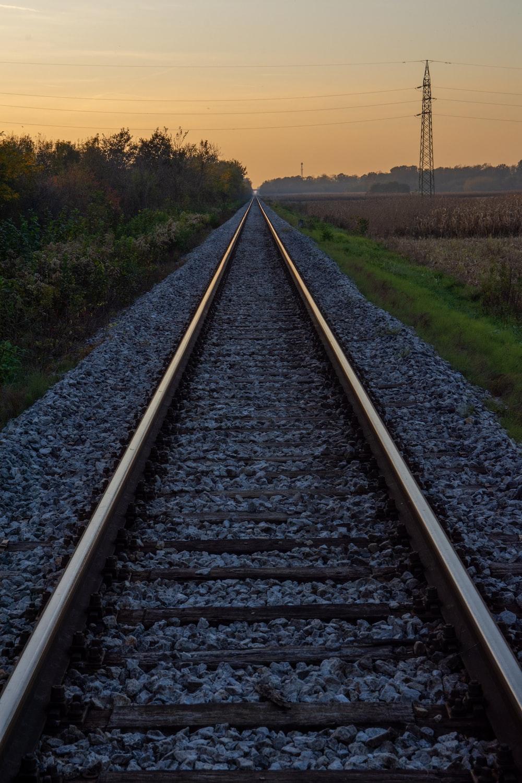 railway during golden hour