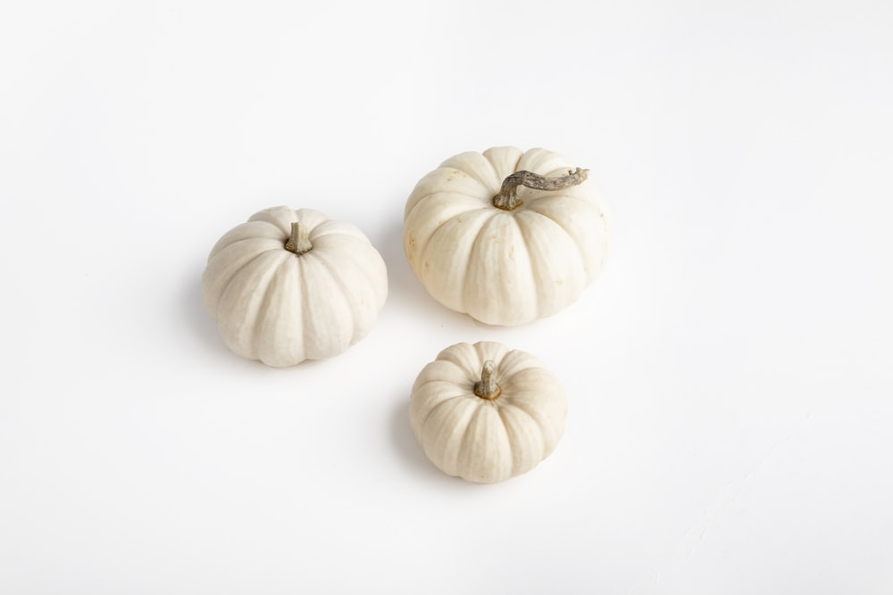 three white squash