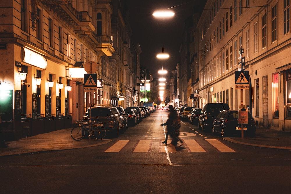 man walking on the pedestal lane