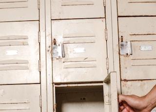 beige locker