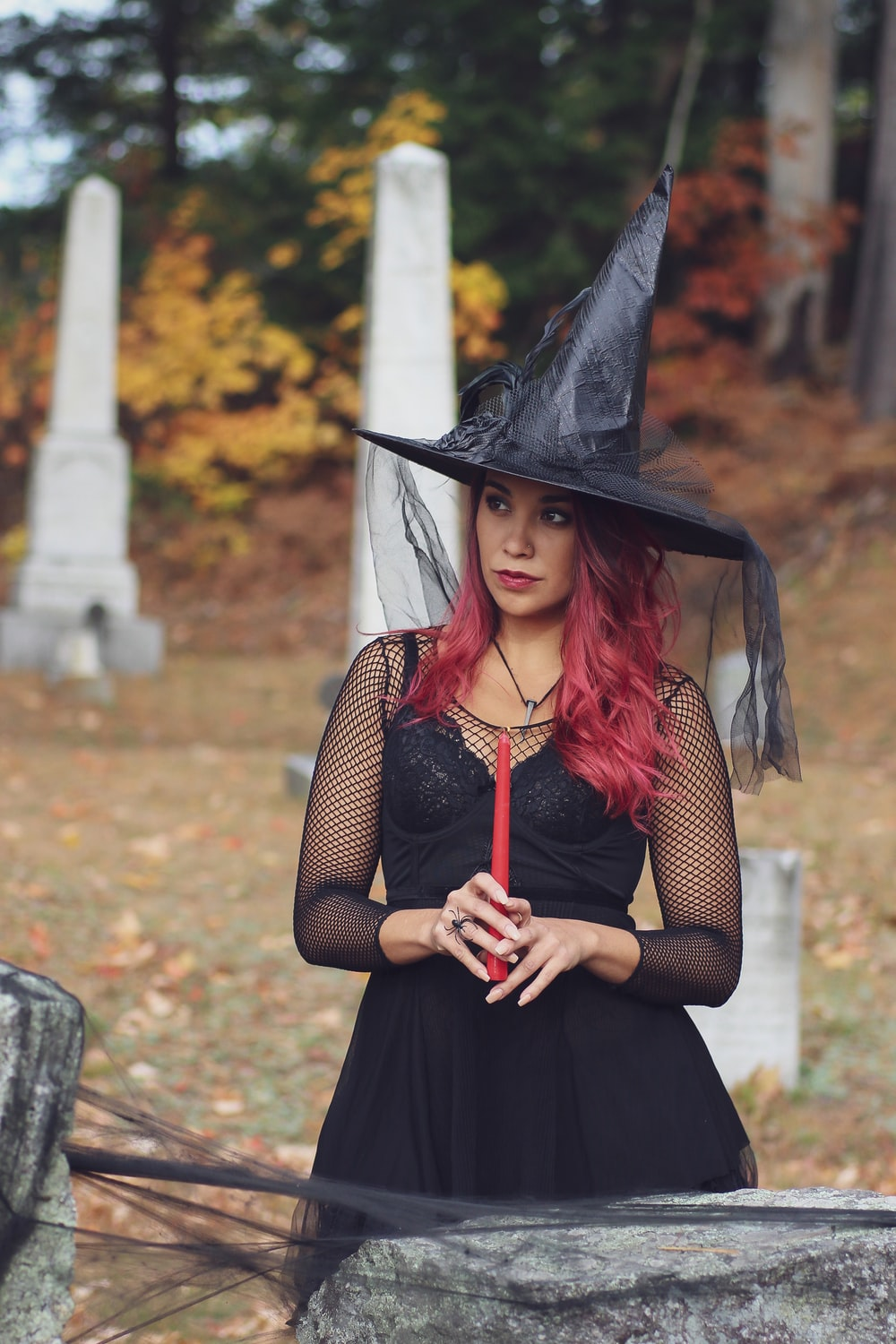woman in witch costume