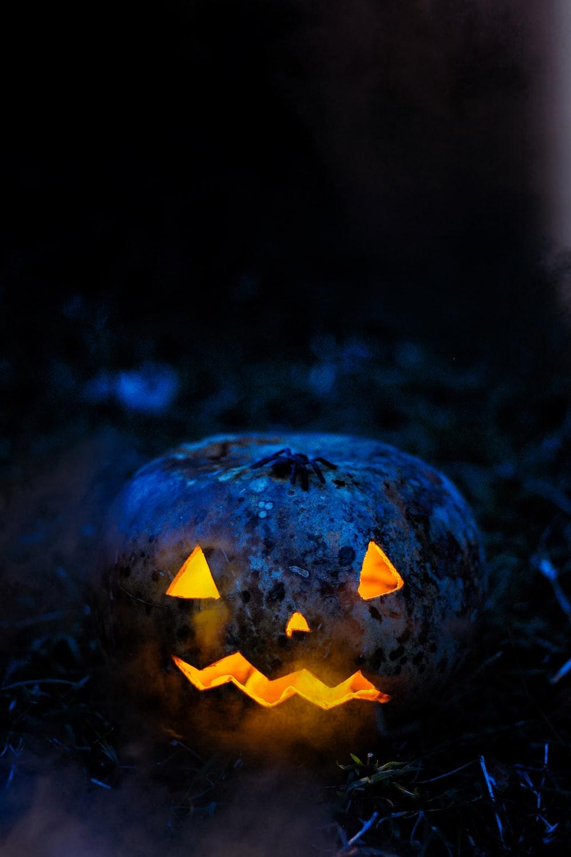 orange jack o lantern