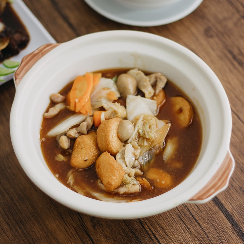 bowl of cooked food