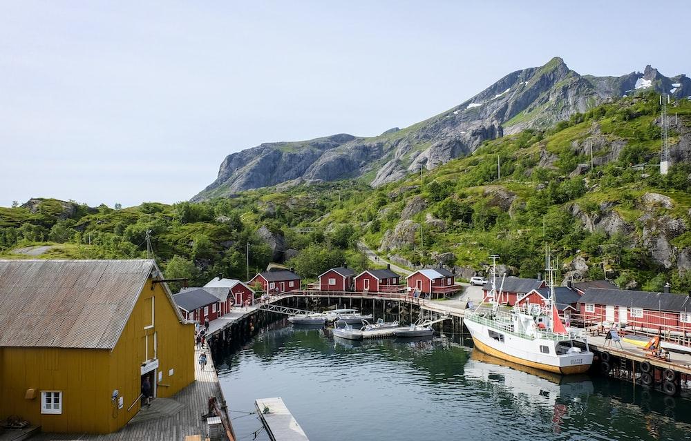 village near sea