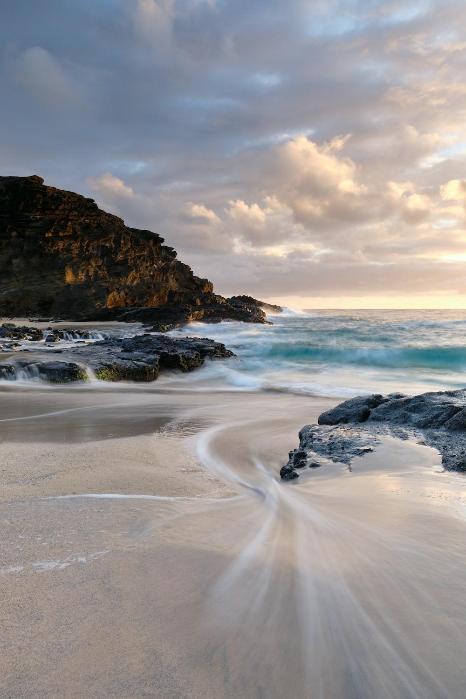 ocean seashore scenry