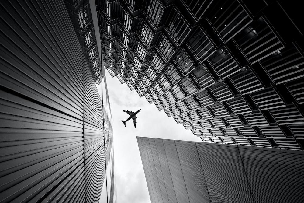 airplane on sky
