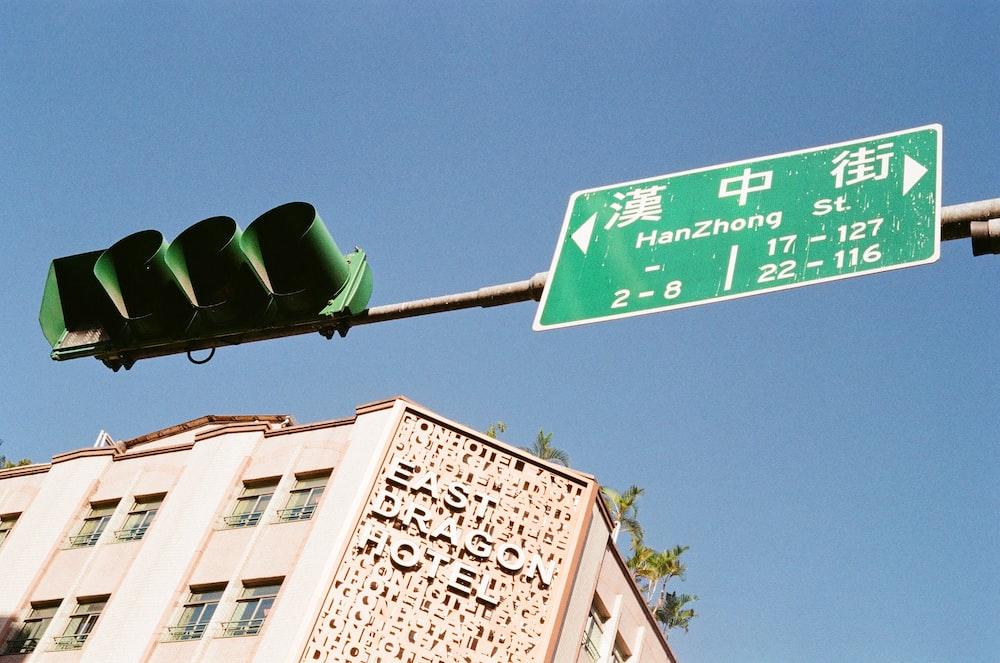 Han Zhong road sign