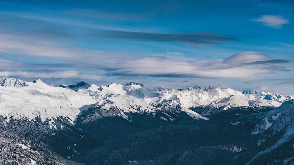 white snow-capped mountain