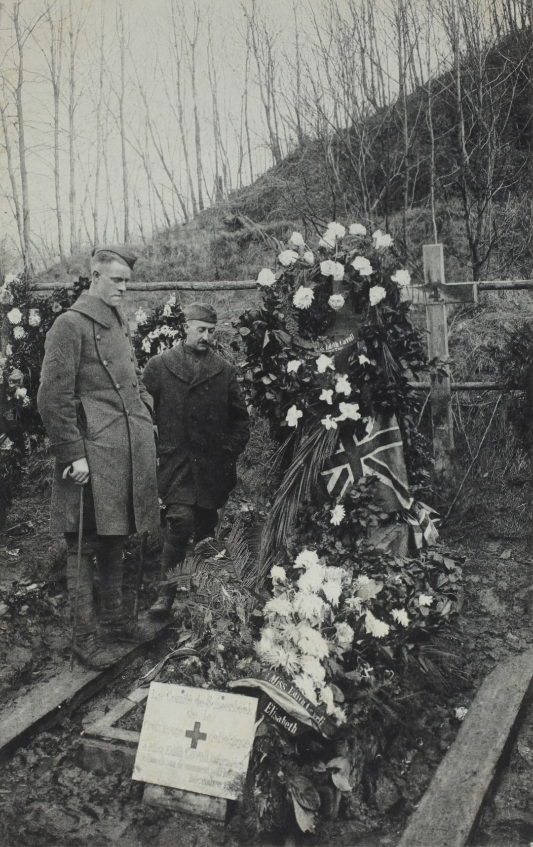 Grave of Miss Edith Cavell, Brussels, Belgium, World War I, 1915-1918