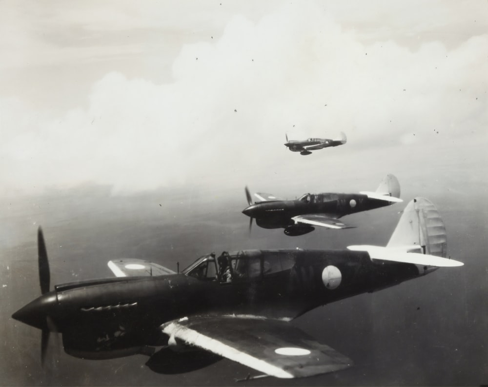 three monoplanes  squadron in World War 2