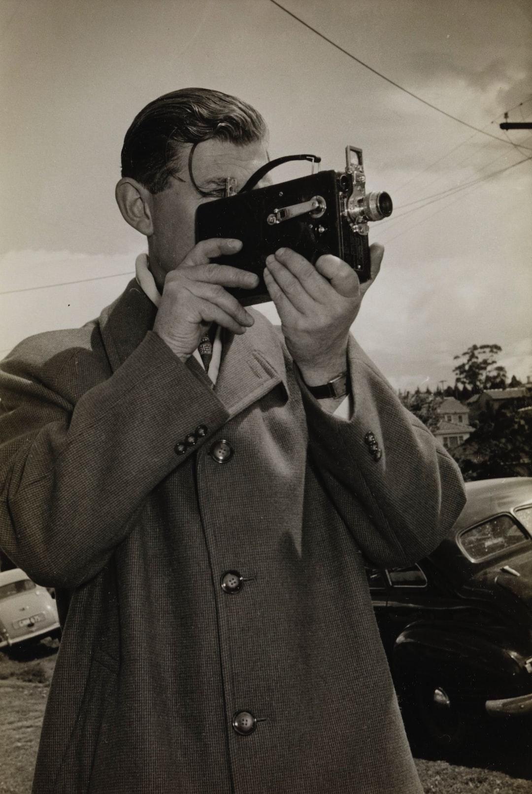 Ken Turner Using Kodak Camera, Melbourne, circa 1940s