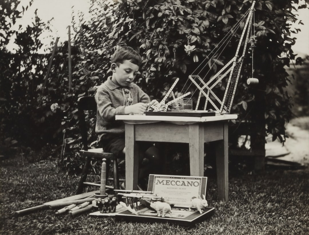 Portrait of Maurice Crow with Christmas Gifts, Victoria, Dec 1919