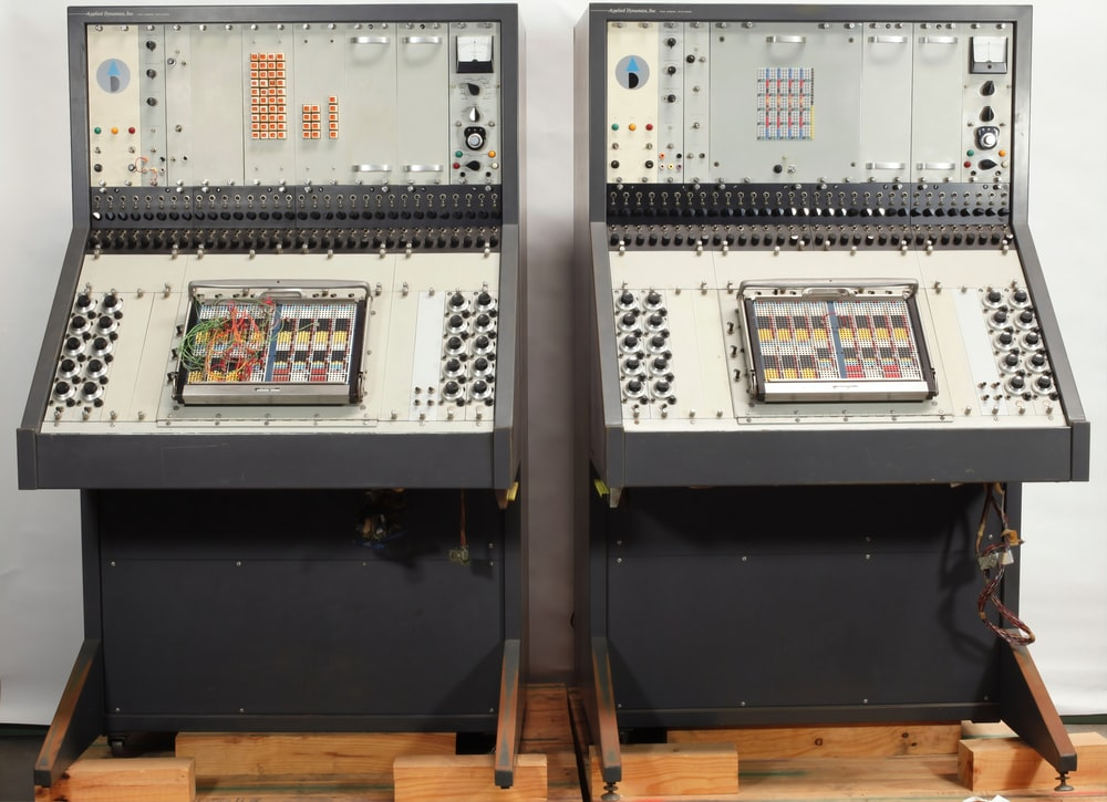 two gray equipment box