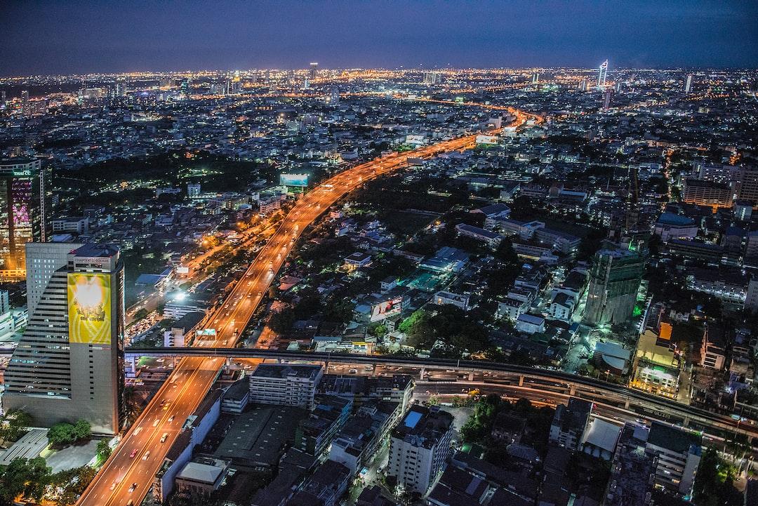 View from Lebua Sky Bar, Bangkok, Thailand