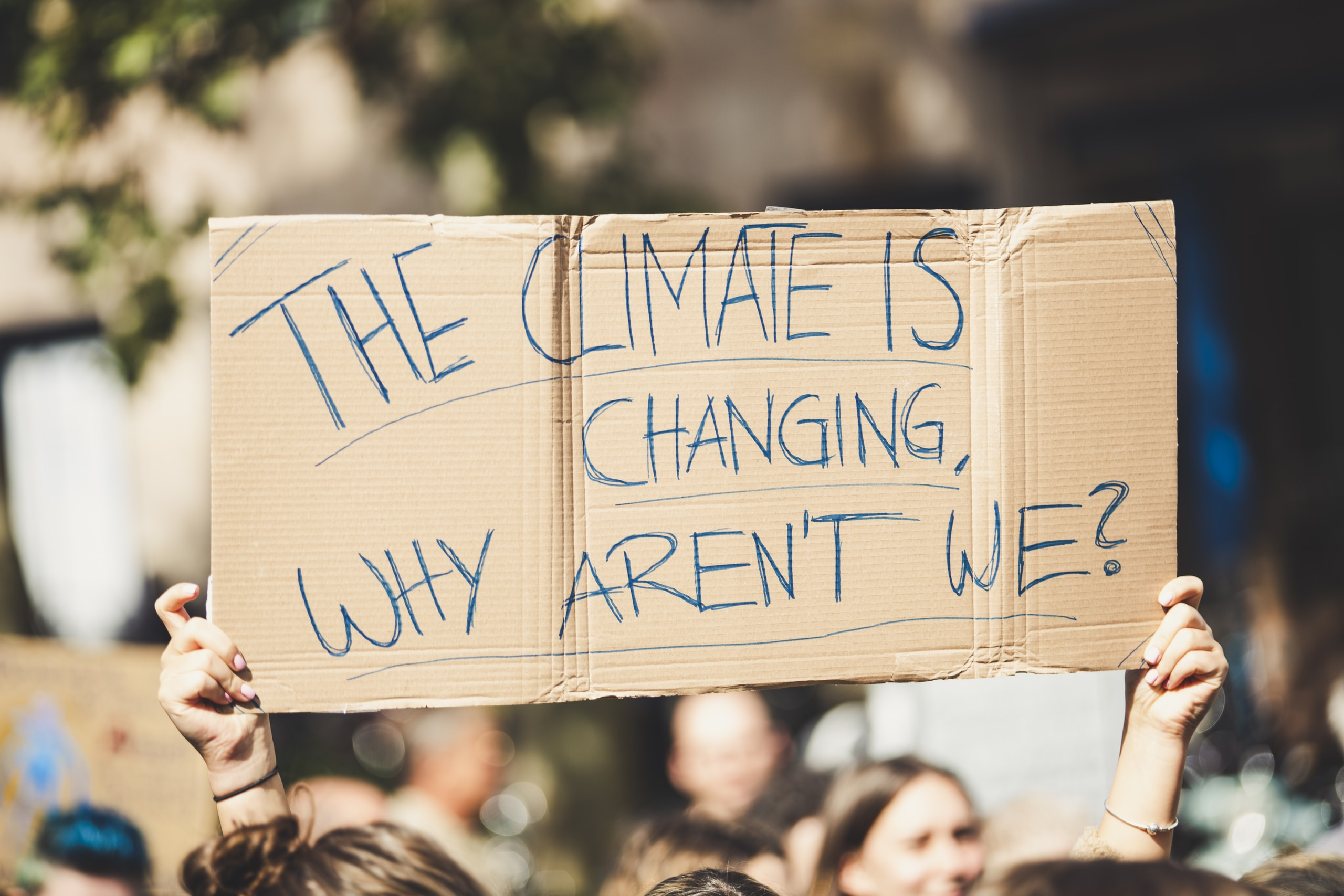 THE CLIMATE IS CHANGING, WHY AREN'T WE? Global climate change protest demonstration strike - No Planet B - 09-20-2019