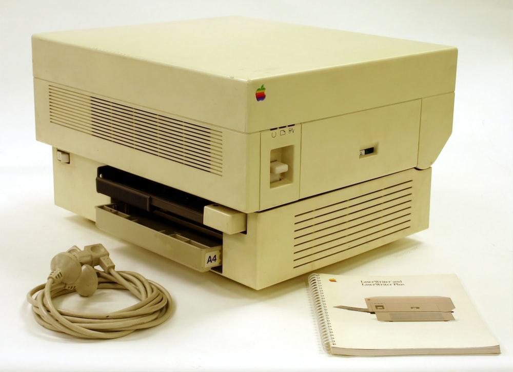 beige printing machine