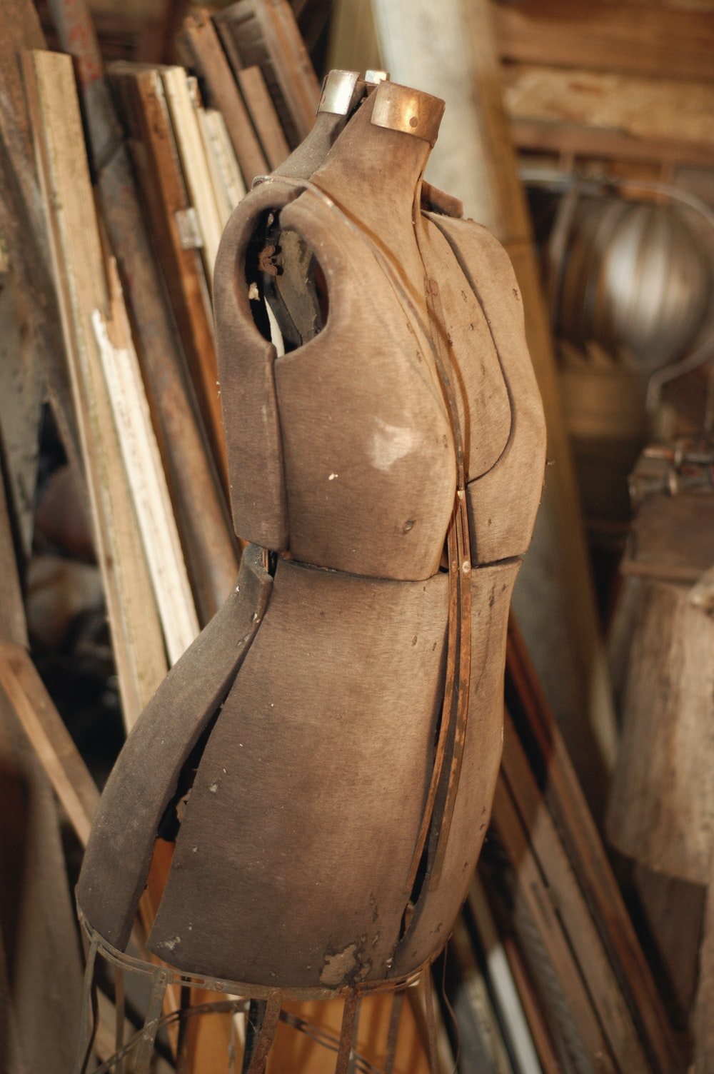 brown dress form