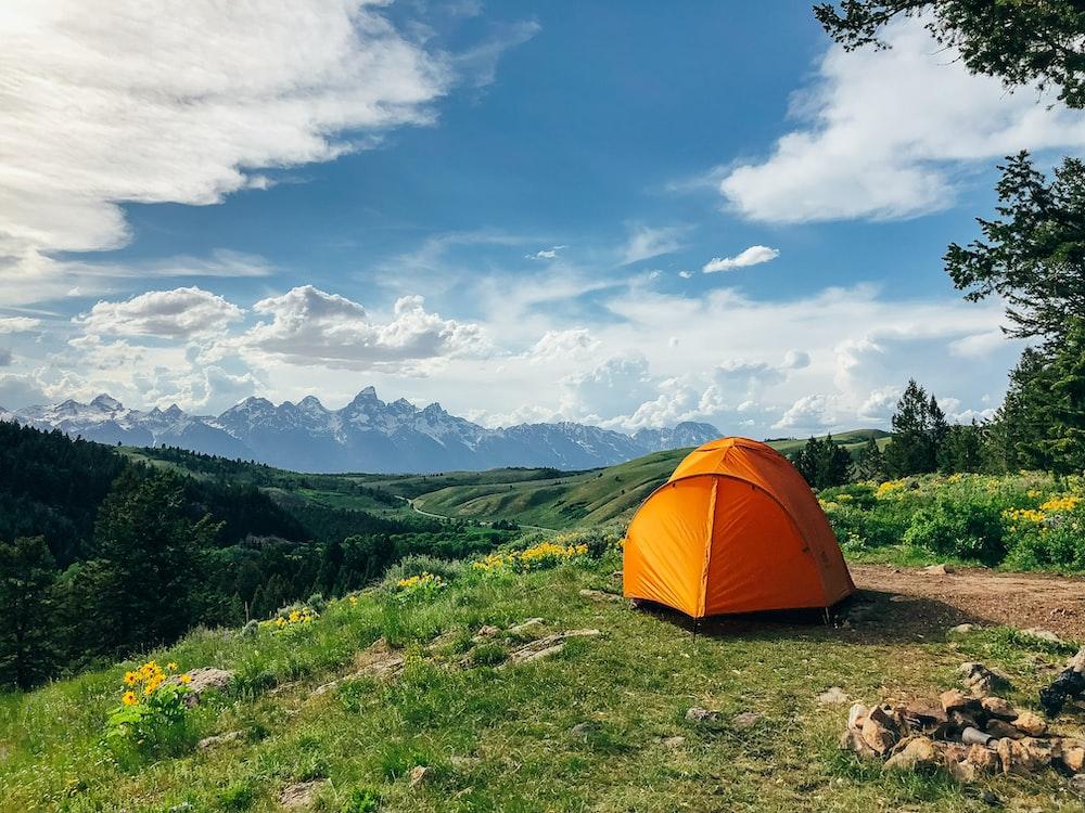 orange outdoor tent