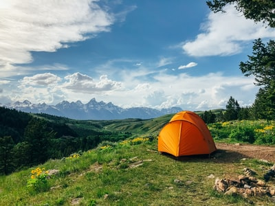 orange outdoor tent camping zoom background