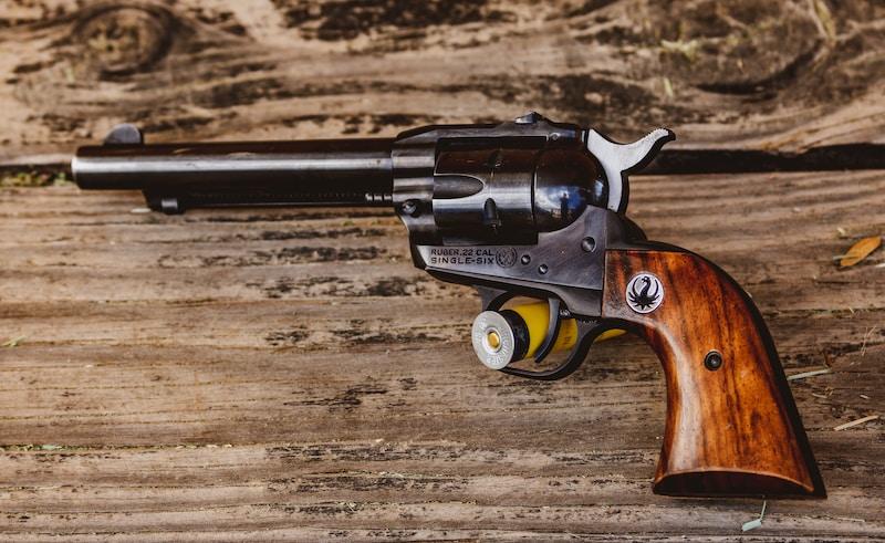 brown and black revolver